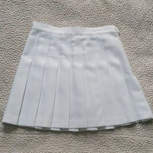 American apparel white tennis pleated skirt small